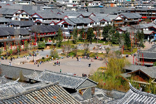 Quảng trường Ngọc Hà là một trong tour Lệ Giang cổ trấn