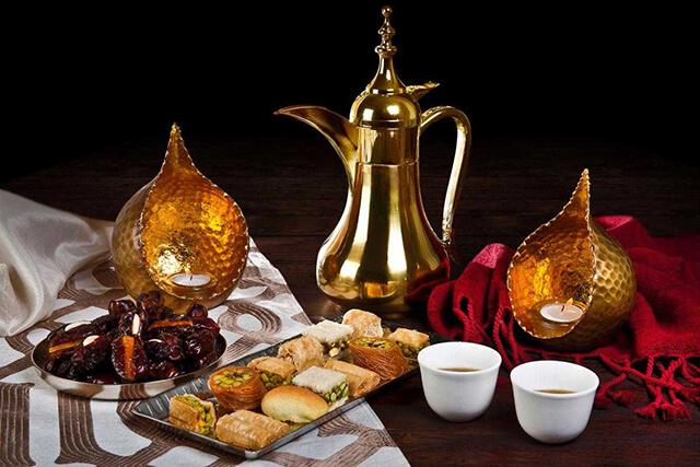 Bình pha cà phê Ả rập có thiết kế mang đậm dấu ấn Trung Đông