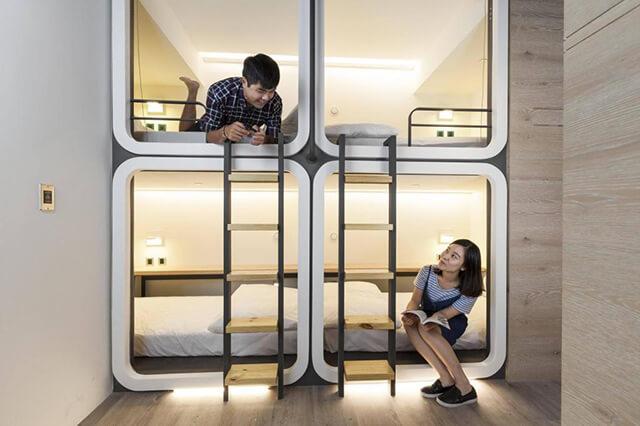 Tá túc tại các dorm giúp bạn tiết kiệm chi phí tour du lịch Đài Loan từ Hà Nội