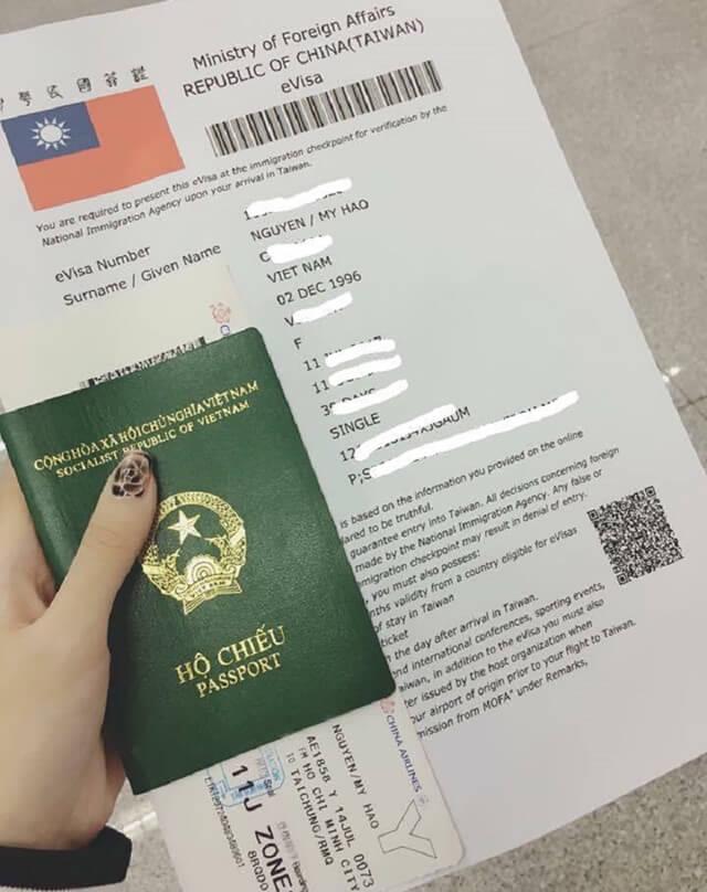 Chi phí làm Visa du lịch Đài Loan nhập cảnh 1 lần là 50USD