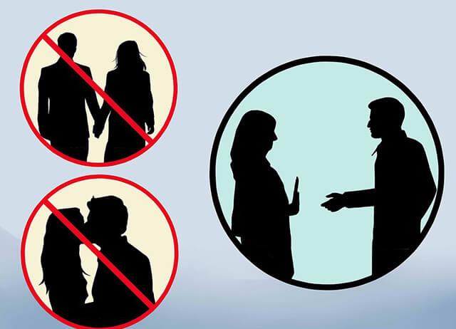Các hành vi như: ôm hôn, nắm tay, băt tay phụ nữ Hồi giáo đều bị nghiêm cấm ở Dubai