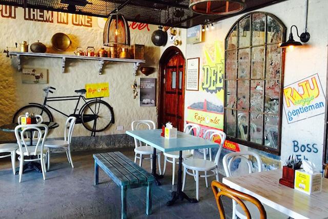 Không gian của nhà hàng Raju Omlet, Dubai
