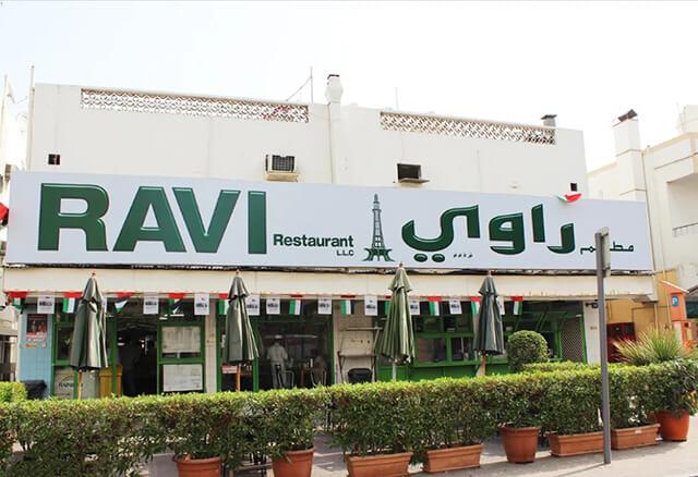 Ravi Restaurant là nhà hàng chuyên phục vụ các món ăn Pakistant tại Dubai