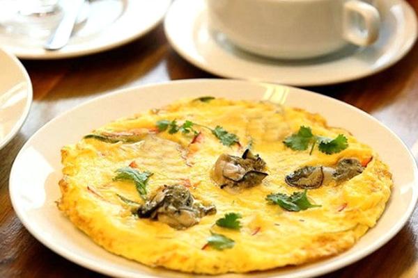 Trứng tráng sò Đài Nam