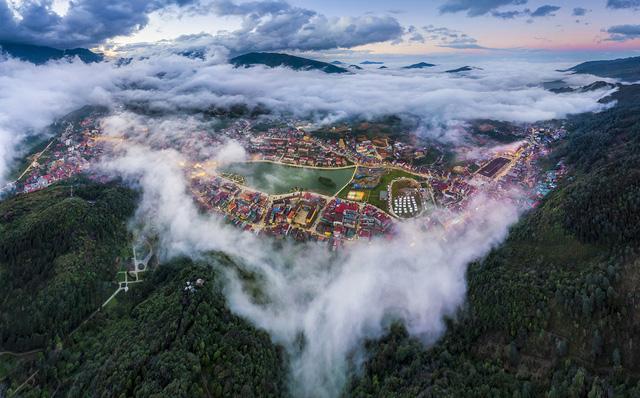 Vẻ đẹp của núi Hàm Rồng vào tháng 11