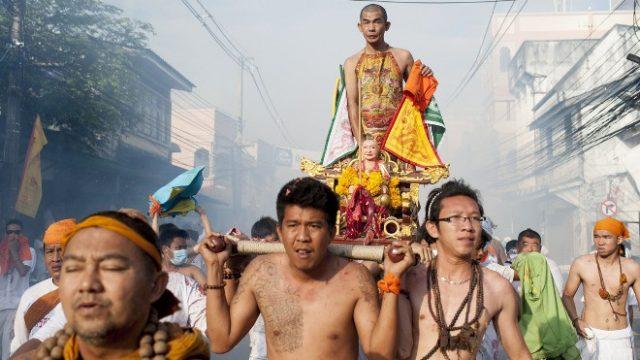 Lễ hội ăn chay Thái Lan cực lớn