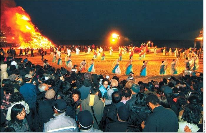 lễ hội Lửa ở đảo Jeju