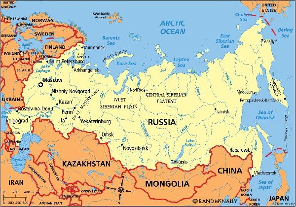 Nga - Một đất nước với hai Châu Lục