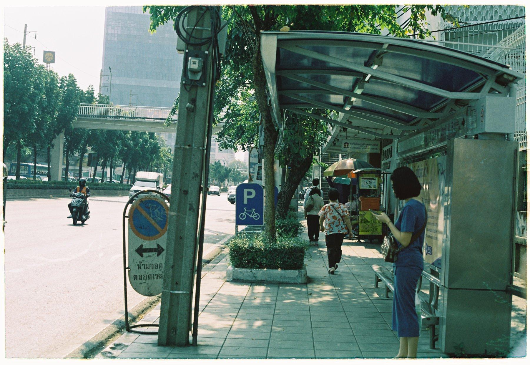 Trạm chờ xe bus