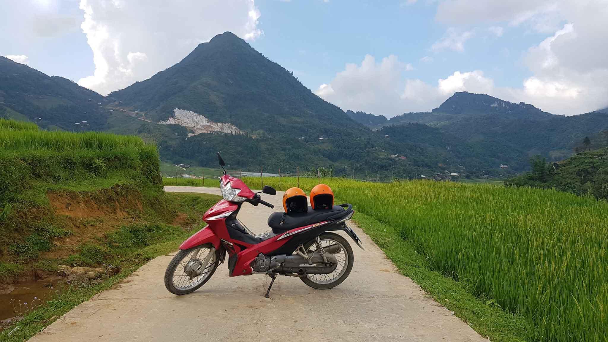 Di chuyển tại Sapa bằng xe máy