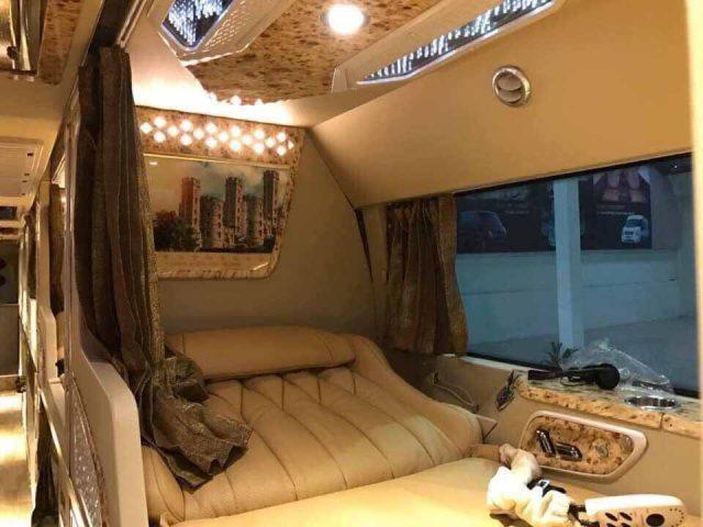 xe đưa đón giường nằm cao cấp của Globaltravel