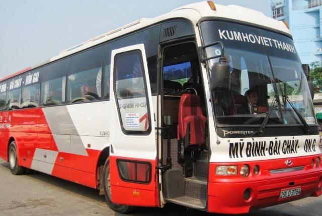 Di chuyển bằng xe khách từ Hà Nội đến Hạ Long