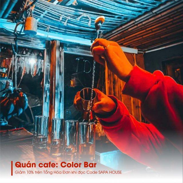 Uống cooktail được pha chế điêu luyện ở Color Bar