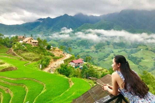 Du lịch Sapa ngắm thảm ruộng bậc thanh xanh mát